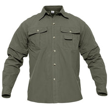 Load image into Gallery viewer, TACVASEN Quick Dry Shirt Men Hiking Shirt Removable Military