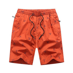 Work Out Print Cotton Cargo Shorts