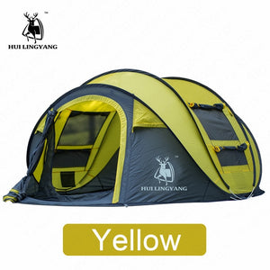 HUILINGYANG Tent Quick Open Automatic Camping Tent 3-4
