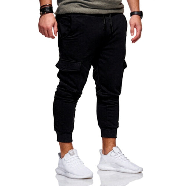 Hot Men Trousers Drawstring and Pockets
