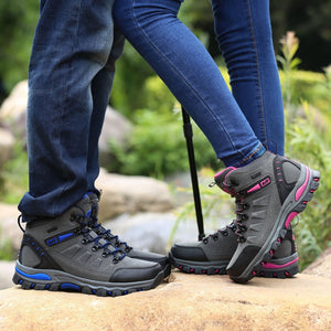 men mountain hiking boots waterproof woman trekking