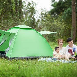 Quality 2-3 Person Large Tent Waterproof Double Layer Summer Tent Outdoor Camping Hiking Fishing Hunting Familiy Party Tent