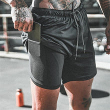 Load image into Gallery viewer, 2020 Sport Running Mens Gym Shorts 2 In 1 Training