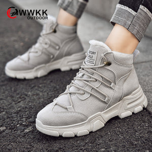 WWKK Outdoor Hiking Shoes Woman Waterproof Hiking Boots
