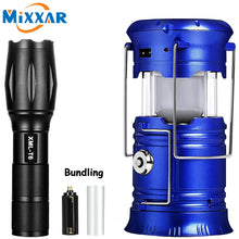 Load image into Gallery viewer, ZK20 LED Solar Powerful Flashlights Portable Torch Rechargeable Hand Lamp Camping Lantern