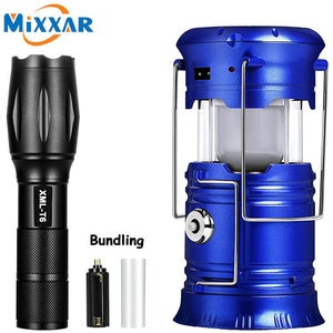 ZK20 LED Solar Powerful Flashlights Portable Torch Rechargeable Hand Lamp Camping Lantern