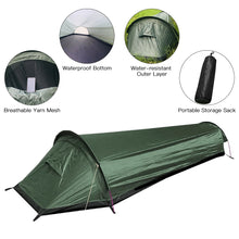 Load image into Gallery viewer, Camping Tent Travel Backpacking Tent Outdoor Camping Sleeping Bag