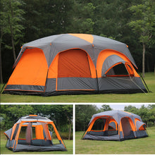 Load image into Gallery viewer, 2020 on sale 6 8 10 12 person 2 bedroom 1 living room awning sun shelter party family hiking beach fishing outdoor camping tent