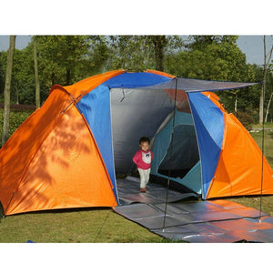 Quality 5-8 Person Large Tent Waterproof Double Layer Summer Tent Outdoor Camping Hiking Fishing Hunting Familiy Party Tent
