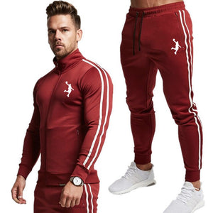 Men 2020 New Suit Two Pieces Set Men's Zipper Hoodie Jacket Sweatshirt&pants