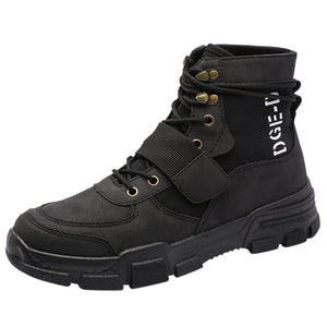 Men's Flat Casual Shoes Non-slip Comfort Short Boots Outdoor Hiking Boots