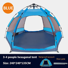 Load image into Gallery viewer, Outdoor Camping Tent Double-Layer Wateroproof Family Automatic Tents 5-8 Persons Portable Breathable Outdoor Travel Hiking Tent