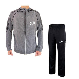 New Fishing Set Uv T Shirt Clothing Hooded Men Jacket Pants Suit