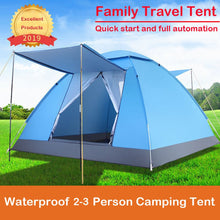 Load image into Gallery viewer, Quality 2-3 Person Large Tent Waterproof Double Layer Summer Tent Outdoor Camping Hiking Fishing Hunting Familiy Party Tent