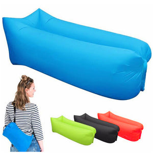 Outdoor Camping Inflatable Sofa Lazy Bag 3 Season Ultralight Beach Sleeping Bag Air Bed Lounger Sports Camping Travel Sack X1A