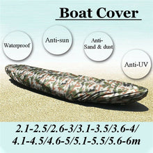 Load image into Gallery viewer, Professional Universal Kayak Cover Canoe Boat Waterproof UV Resistant Dust Oxford Storage Cover Shield Fishing Boat UV Protector