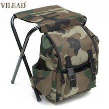Load image into Gallery viewer, VILEAD Camouflage Portable Folding Fishing Chair