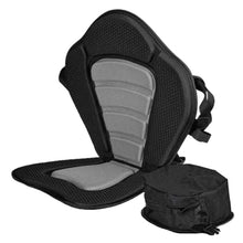 Load image into Gallery viewer, Adjustable Padded Kayak Seat with Storage Bag Canoe Backrest Drifting Cushion