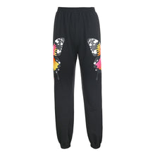 Load image into Gallery viewer, Darlingaga  Butterfly Print Tracksuit Women Sweatpants Two Piece Set Zipper Hoodie and Pants