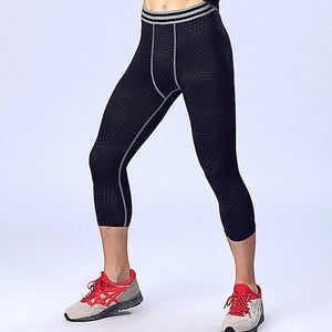 Compression men tights elastic quick dry exercise pants