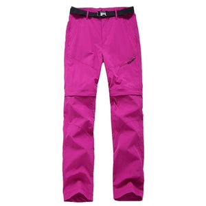 Outdoor Quick Dry Removable Hiking&Camping Pants Women