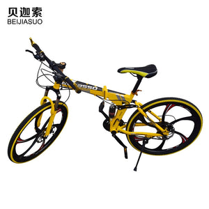 26inch High Carbon Steel Folding Road Bikes Mountain Bicycles 21 Speed