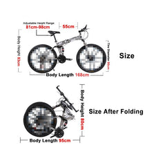 Load image into Gallery viewer, 26inch High Carbon Steel Folding Road Bikes Mountain Bicycles 21 Speed