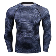 Load image into Gallery viewer, New Fashion Mens Compression Long Sleeve Elastic T Shirt