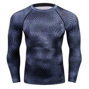 New Fashion Mens Compression Long Sleeve Elastic T Shirt