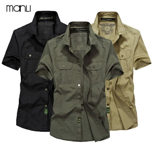 MANLI Outdoor Men's Summer Shirts Brand Short Sleeve
