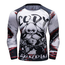Load image into Gallery viewer, UFC BJJ MMA Compression Rashguard T shirt