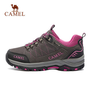 CAMEL Women Hiking Shoes Suede Leather