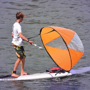 "46"" Big Size Kayak Downwind Wind Sail Paddle Inflatable Canoe Boats Drifting Wind Sail With Clear Window Kayak Boat Accessories"