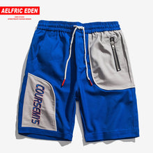 Load image into Gallery viewer, Aelfric Eden Color Contrast Patchwork Men Shorts