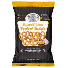 Load image into Gallery viewer, Mustard & Onion Pretzel Twists 7oz (3 Count)