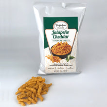 Load image into Gallery viewer, Crunchy Curls Jalapeno Cheddar 7oz Bag 3 Pack