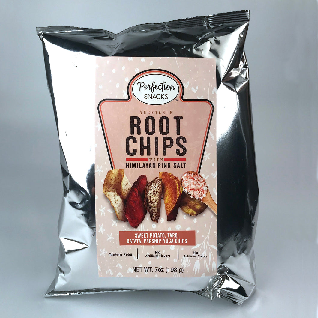 Root Veggie Chips with Himalayan Pink Sea Salt 7oz Bag 2 Pack