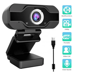 1080p USB Webcam, Wide Angle Auto Focus PC WebCamera with microphone
