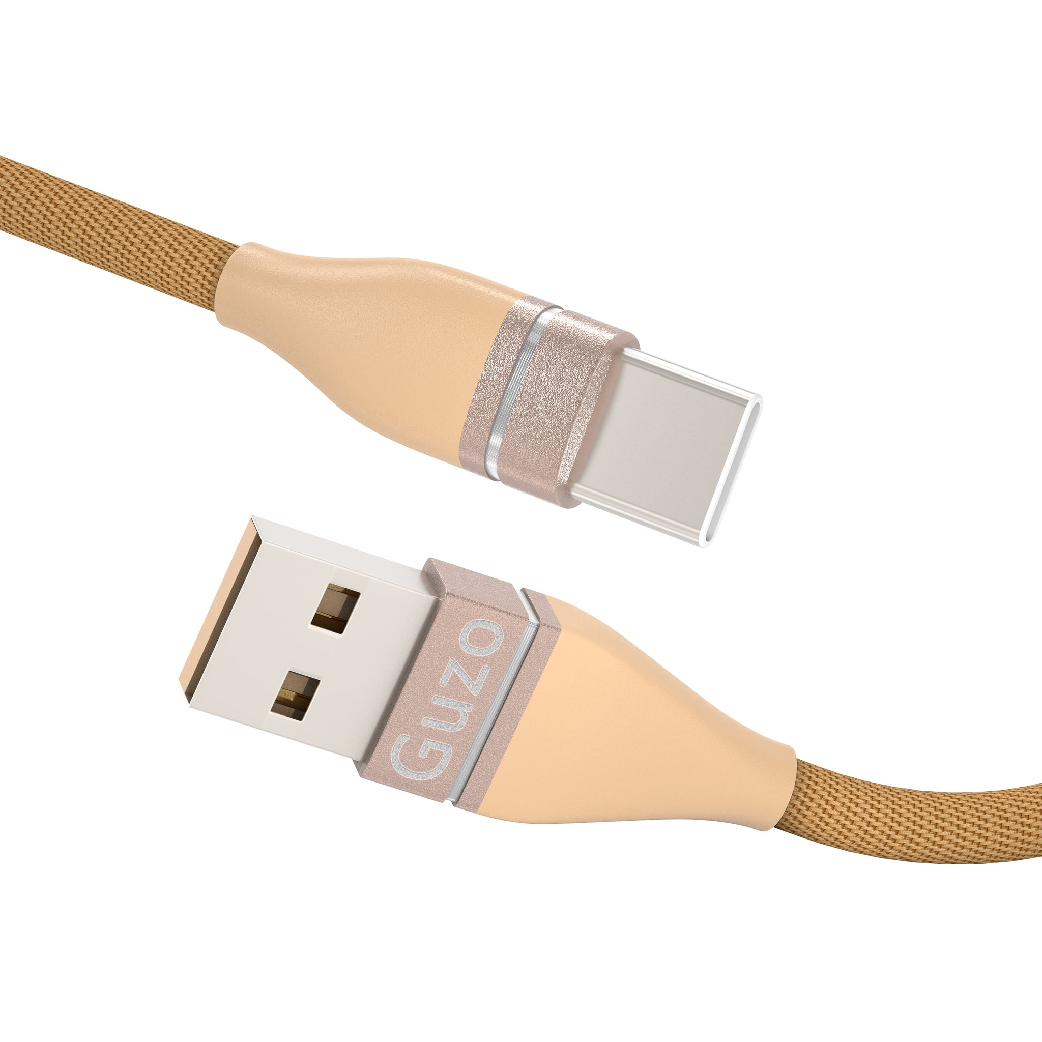 USB Type C Cable 3A Fast Charging, Guzo(2-Pack 3.3ft) USB A to USB C Charge Nylon Braided Compatible with Samsung Galaxy S10 S10E S9 S8 S20 Plus,Note 10 9 8,Z Flip, and Other USB C Charger Pink