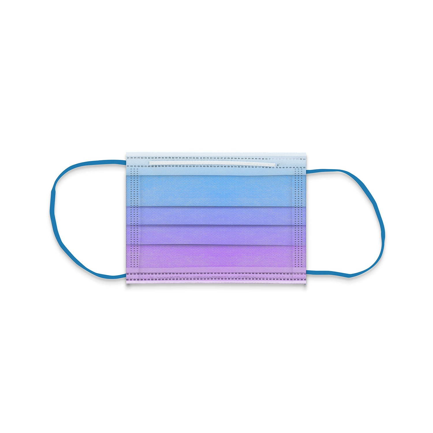 Blue Lagoon Ombré Child Size 3-Ply Surgical Face Mask (50-pack)