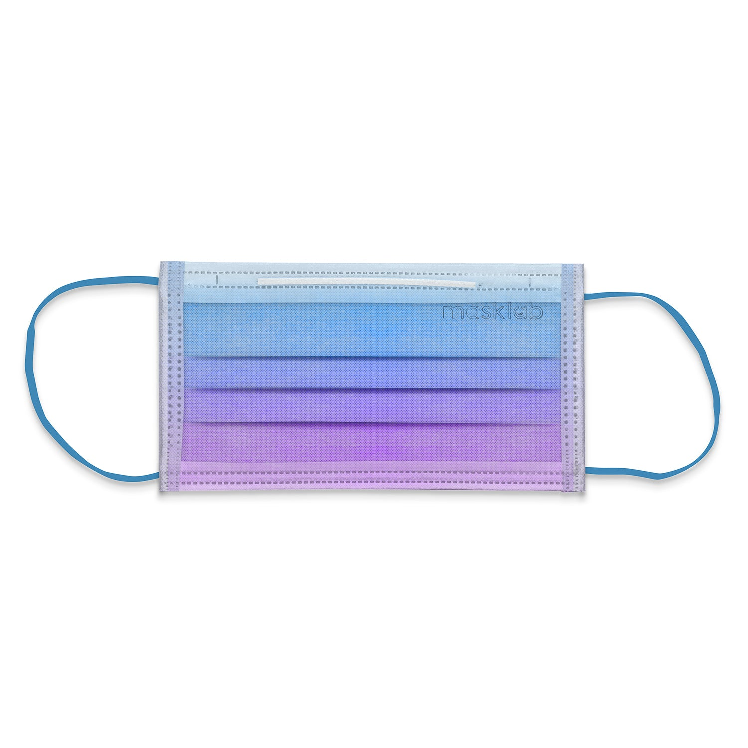 Blue Lagoon Ombré 3-Ply Surgical Face Mask (Individually-wrapped 25-pack)