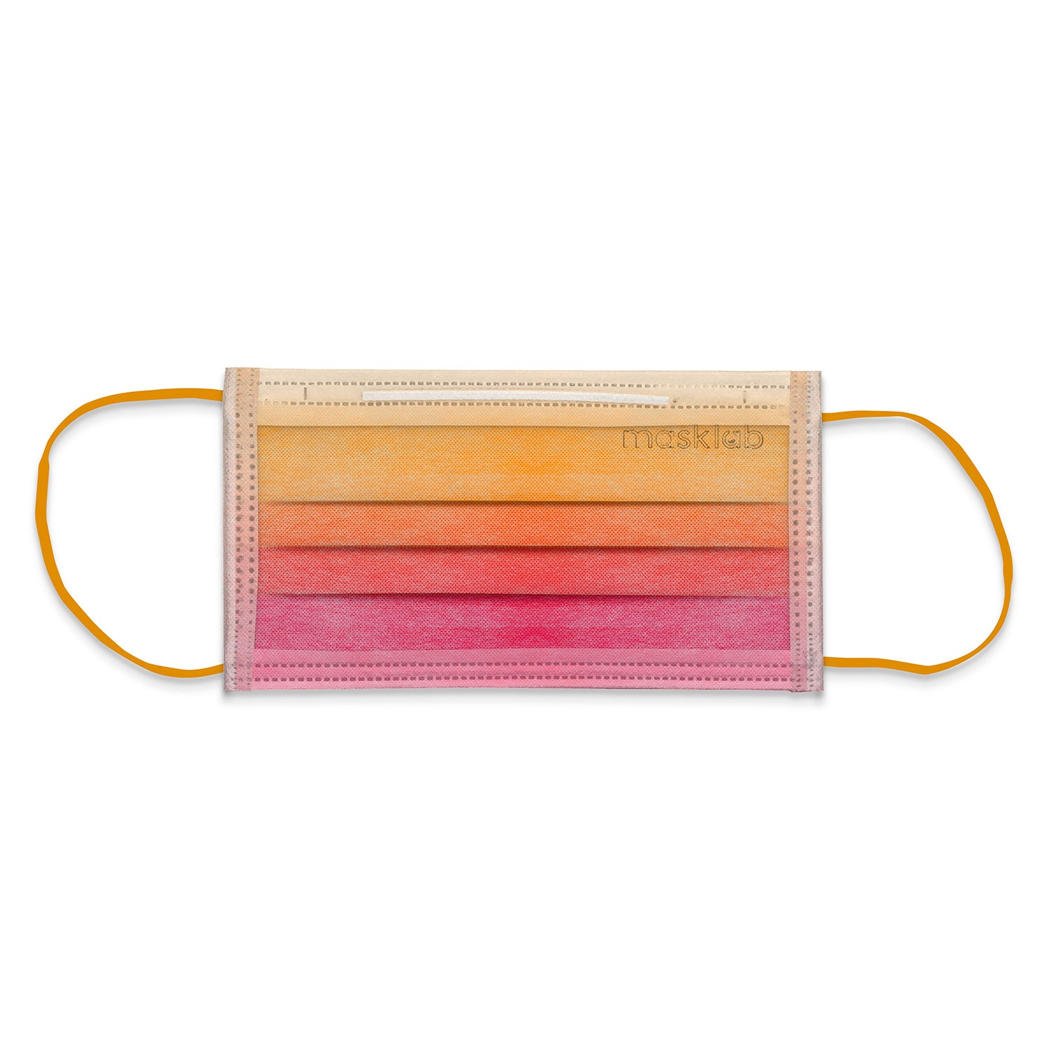 Malibu Sunset Ombré Adult 3-Ply Surgical Face Mask (Individually-wrapped 10-pack)
