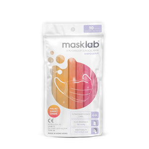 Malibu Sunset Ombré Adult 3-ply Surgical Mask (Pouch of 10)