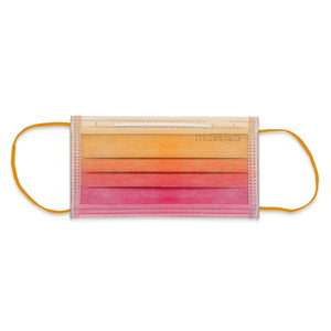 Malibu Sunset Ombré 3-Ply Surgical Face Mask (Individually-wrapped 25-pack)