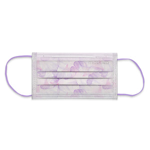 Lilac Petals Adult 3-Ply Surgical Face Mask (Individually-wrapped 10-pack)