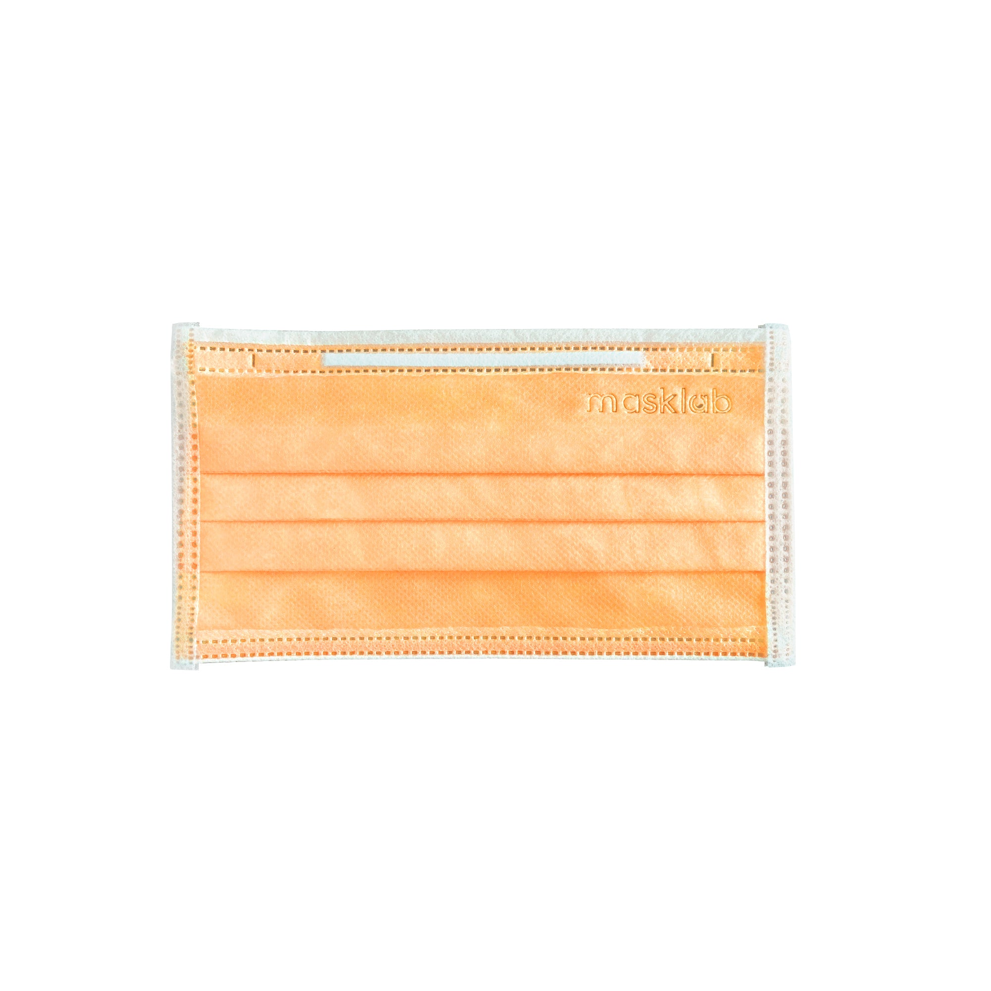 Orange 3-Ply Surgical Face Mask (50-pack)