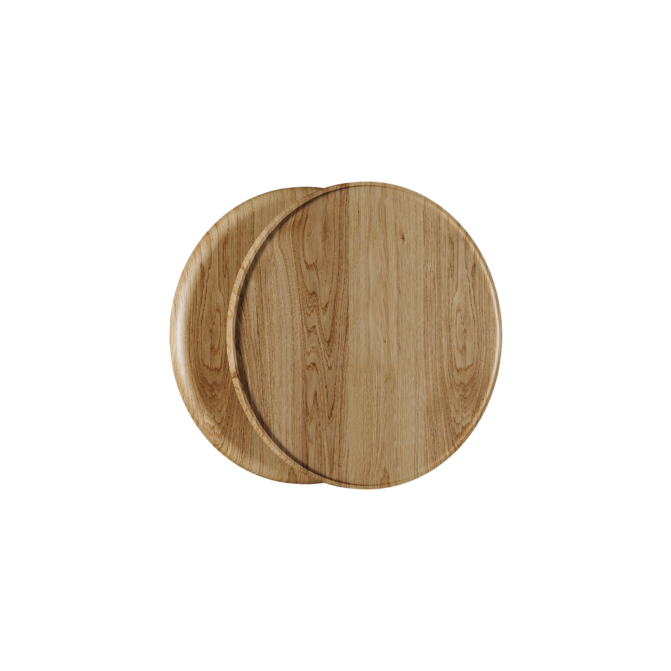 C4100OAK Round Natural Timber Handle