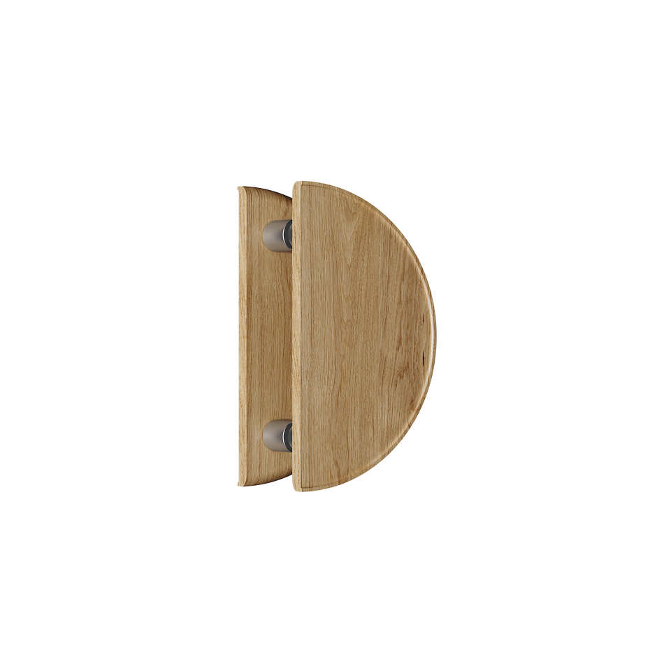 C4200OAK Round Natural Timber Handle