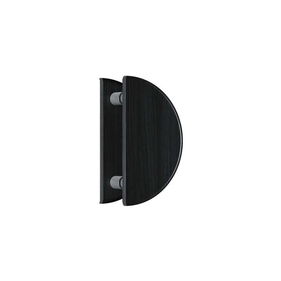 C4200BOK Round Black Timber Handle