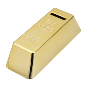 Tirelire lingot d'or